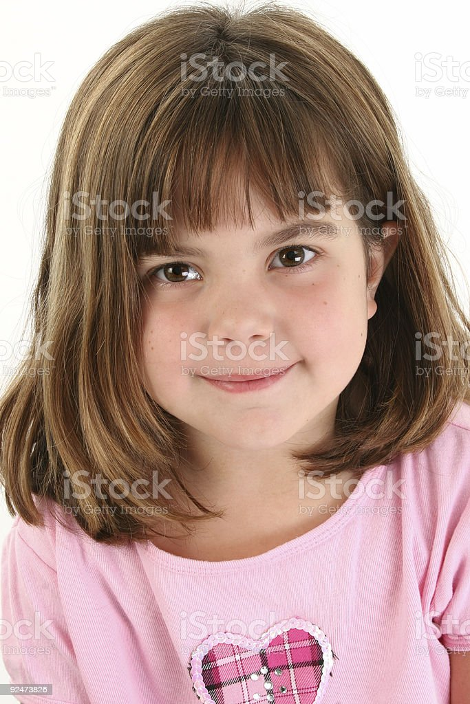 Close Up of Beautiful Five Year Old Girl royalty-free stock photo