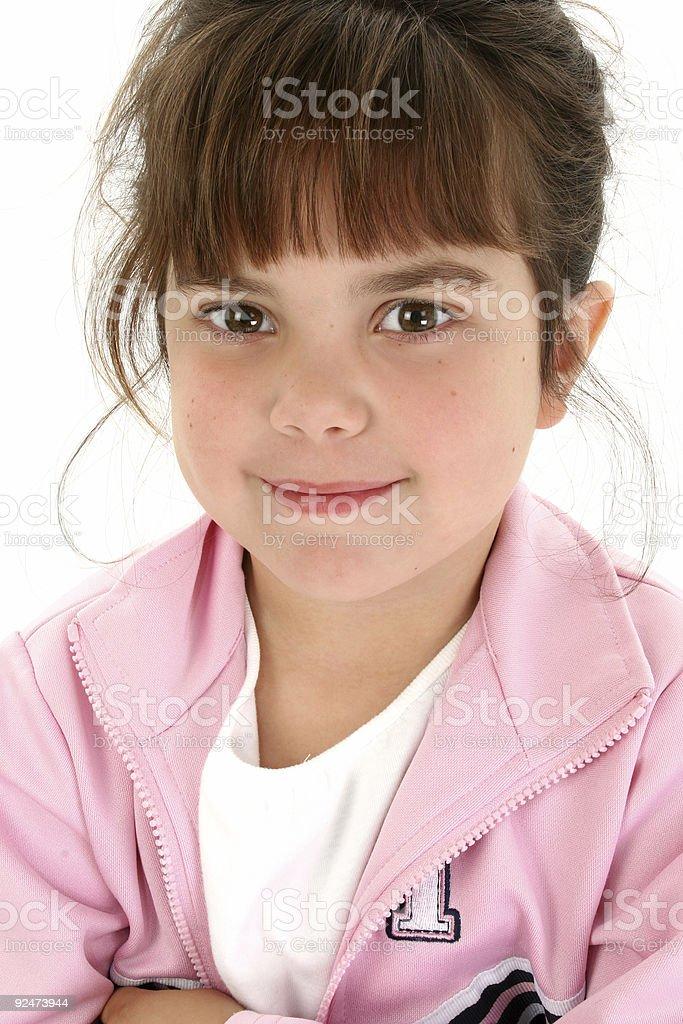 Nahaufnahme des schönen fünf Jahre altes Mädchen Lizenzfreies stock-foto