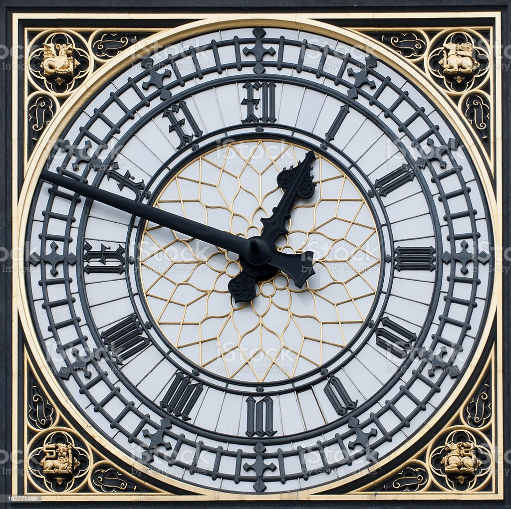 Close up of Big Ben royalty-free stock photo