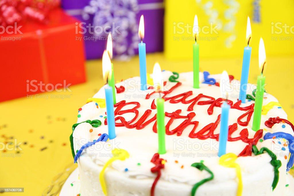 Close Up Of Birthday Cake royalty-free stock photo