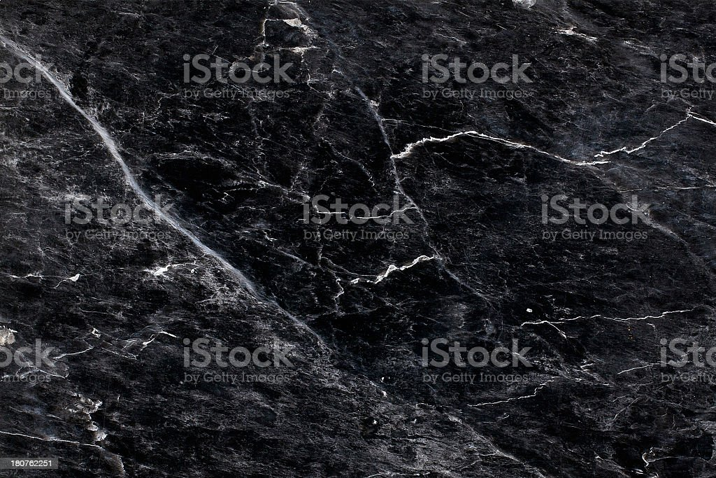 Close up of black and white marble textured surface stock photo