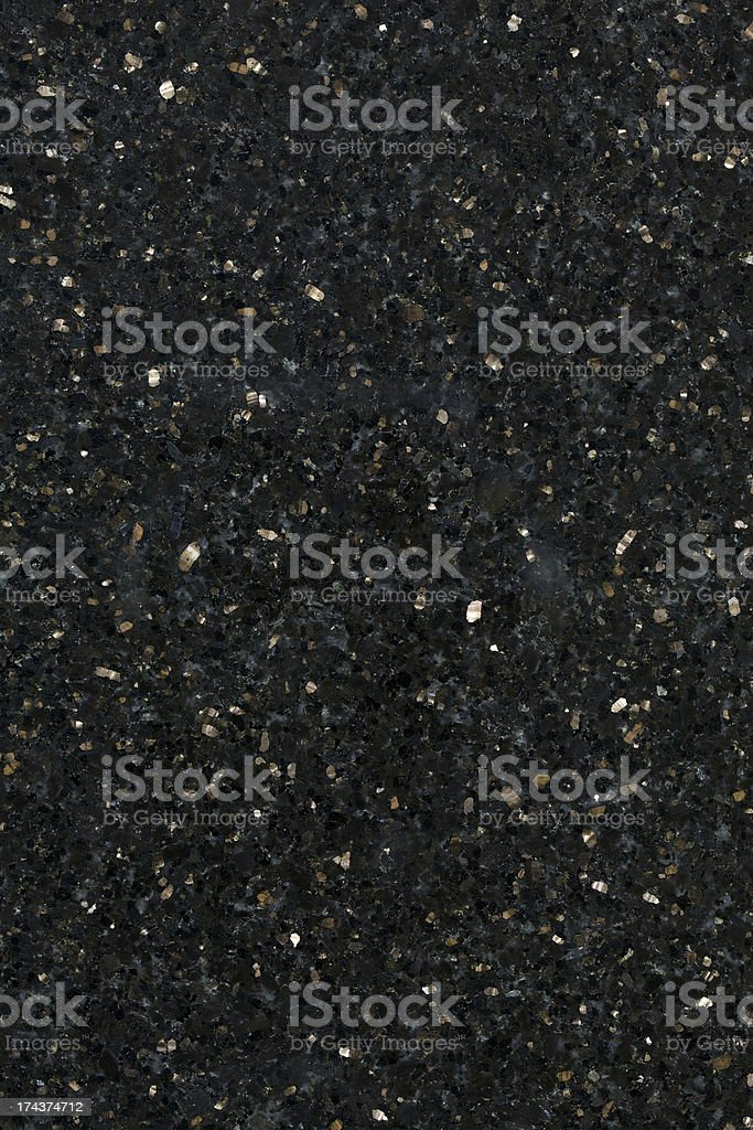 Close up of black galaxy granite building material stock photo