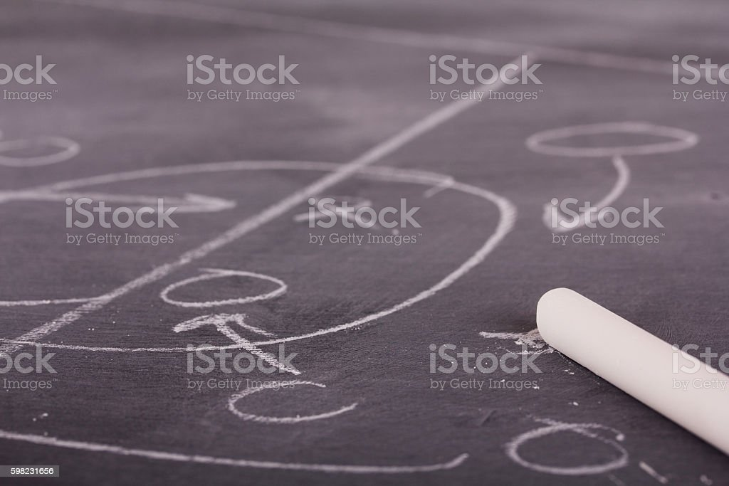 Close up of blackboard for coaching tactics foto royalty-free