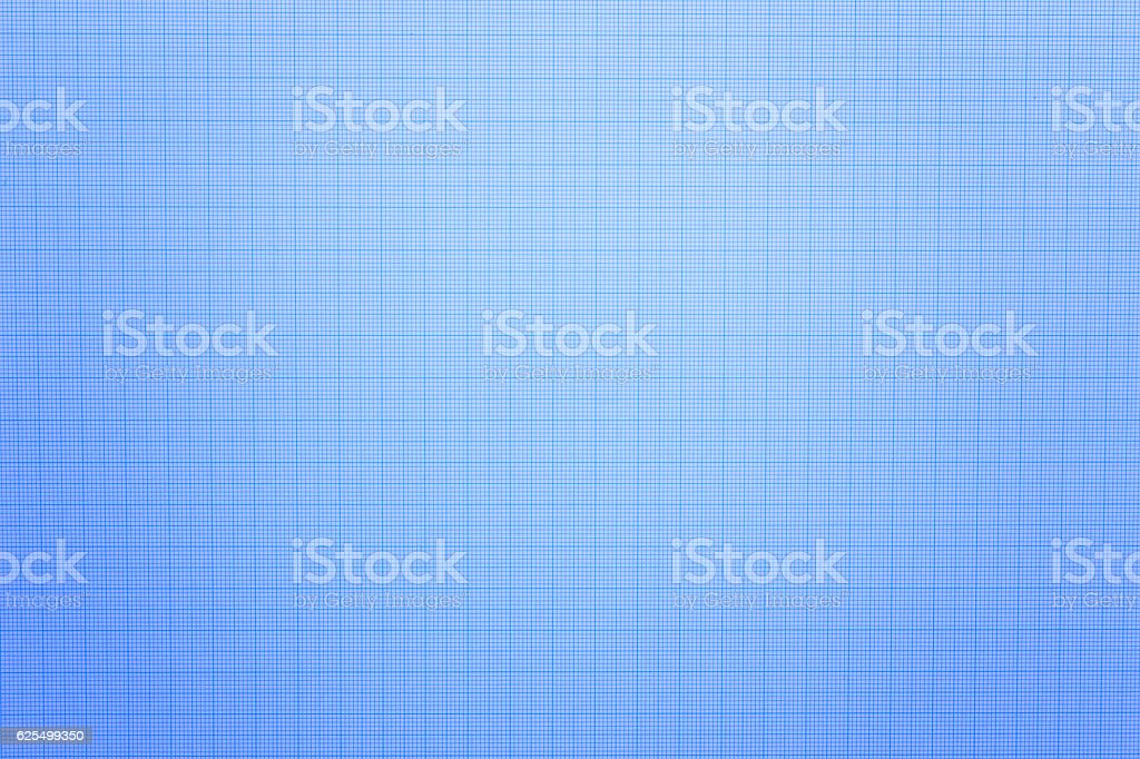 close up of blue graph paper or blueprint – zdjęcie