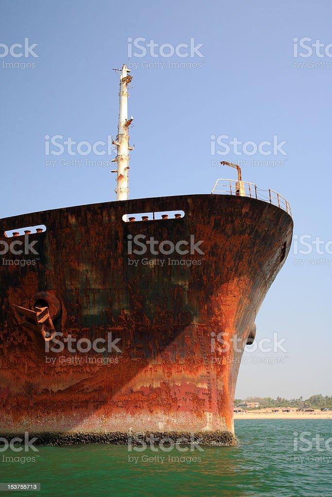 Close up of bow River Princess stock photo