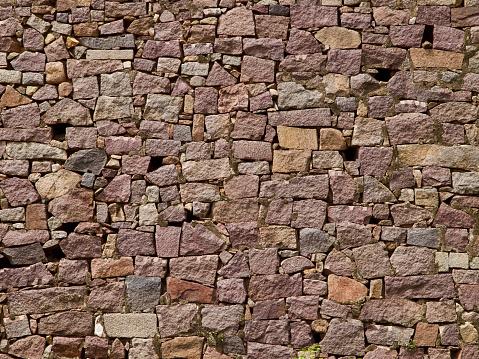 Close up of Brick detail in Golkonda Fort, Hyderabad, India