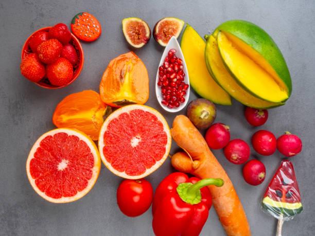 cor das frutas