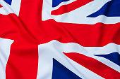 Close up of British flag