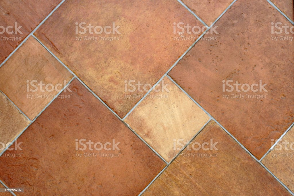 Close up of Brown terracotta tiles stock photo
