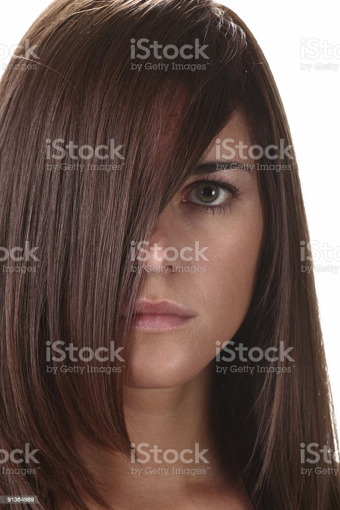 close up of brunette royalty-free stock photo