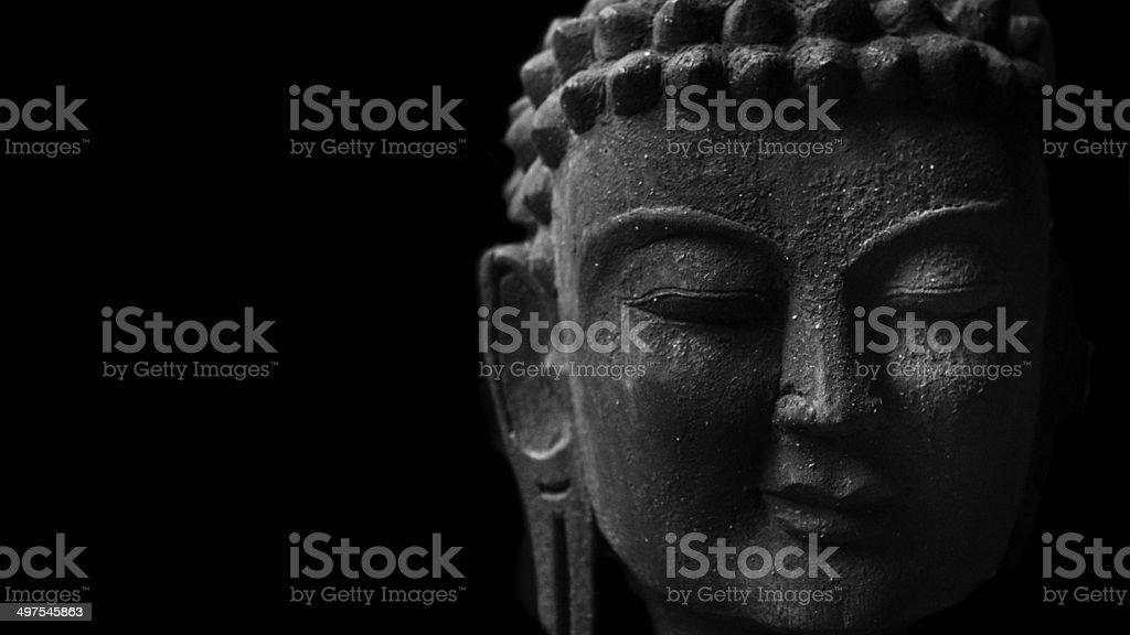 Close up of Buddha's eyes. stock photo