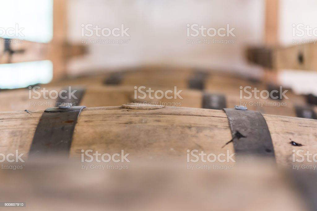 Close Up of Bung Plugging Barrel stock photo
