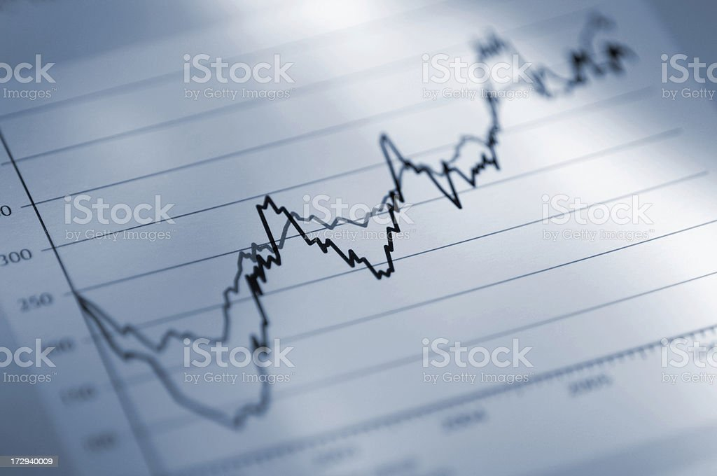 Close Up Of Business Chart stock photo