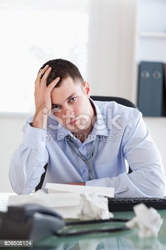690496350istockphoto Close up of businessman being unhappy about accounting 826505124