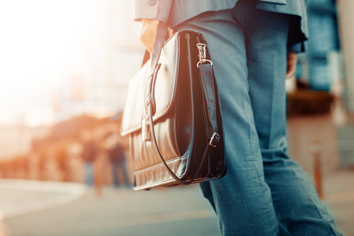 Close Up Of Businessman Holding A Briefcase Stock Photo - Download Image Now
