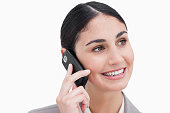istock Close up of businesswoman on her cellphone 824864914