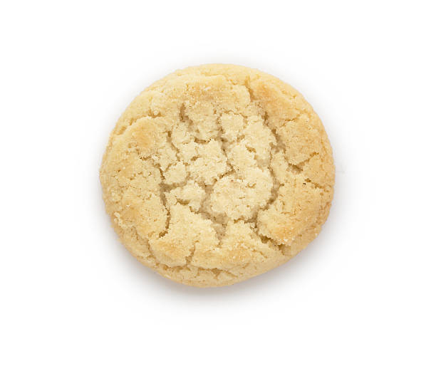 Close up of butter biscuits cookie on white background - foto de acervo