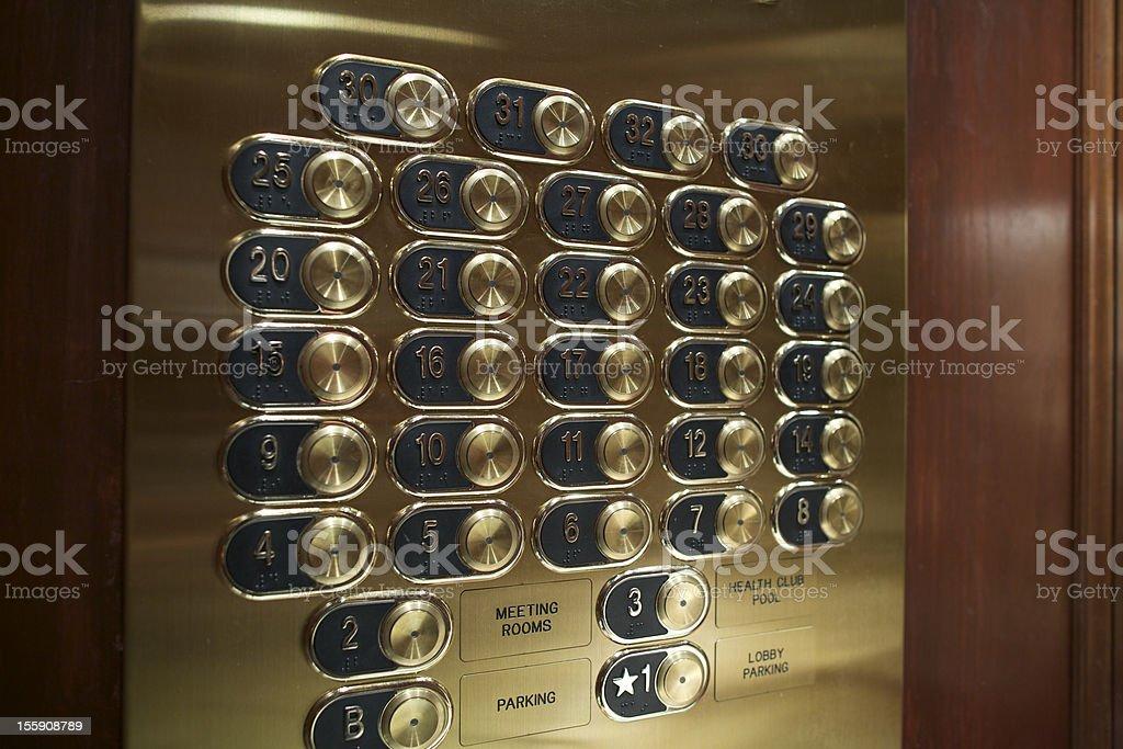 Primer plano de los botones - foto de stock