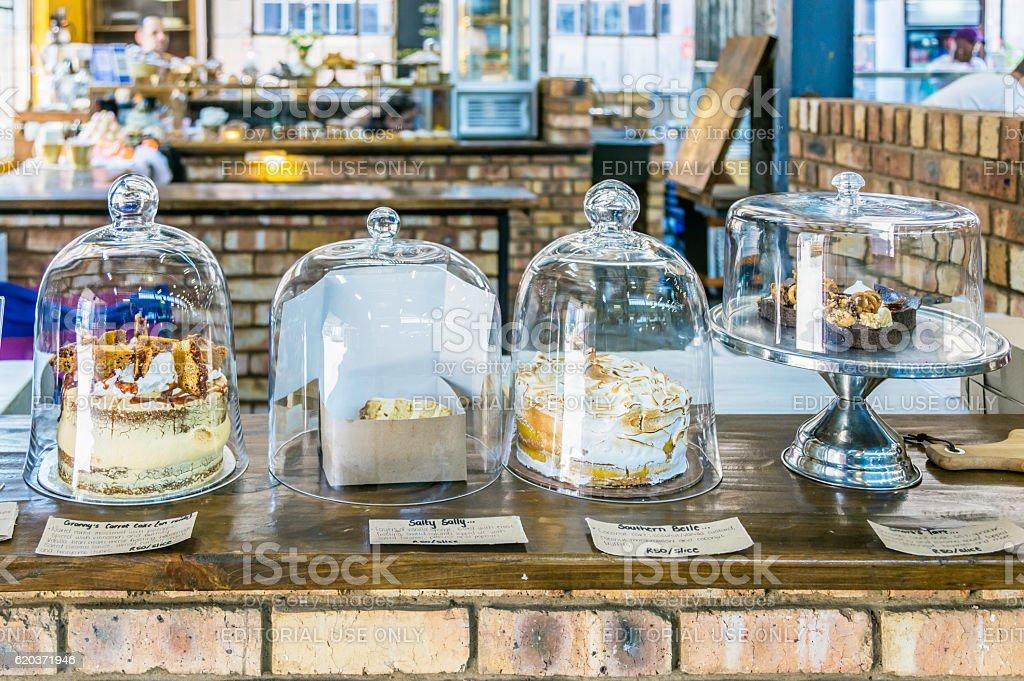 Close up of cakes available at Johannesburg city market zbiór zdjęć royalty-free