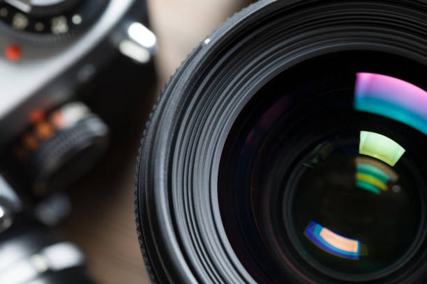 close up of camera lens - aperture stock pictures, royalty-free photos & images