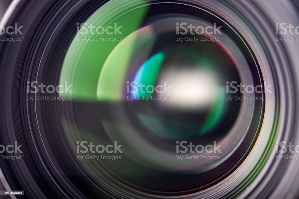 Close up of camera optical lens royalty-free stock photo