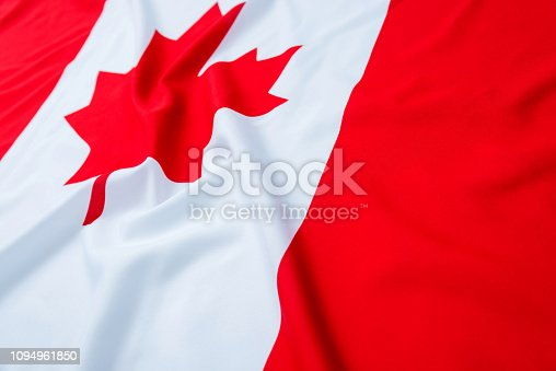 istock Close up of Canadian flag 1094961850