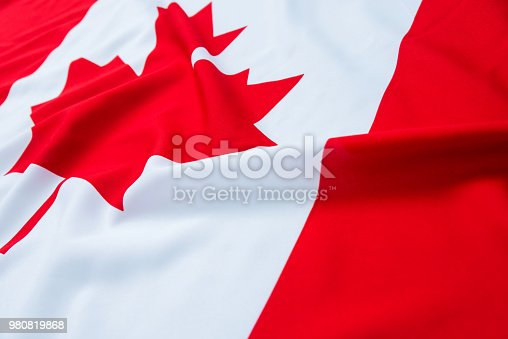 istock Close up of Canadian flag 980819868