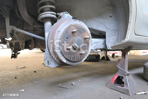 154934986 istock photo Close up of car drum brake 477190826