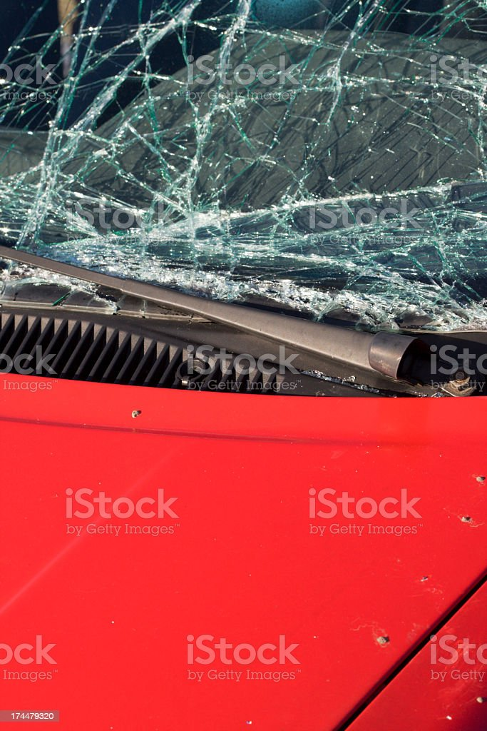 Close up of car involved in accident. royalty-free stock photo