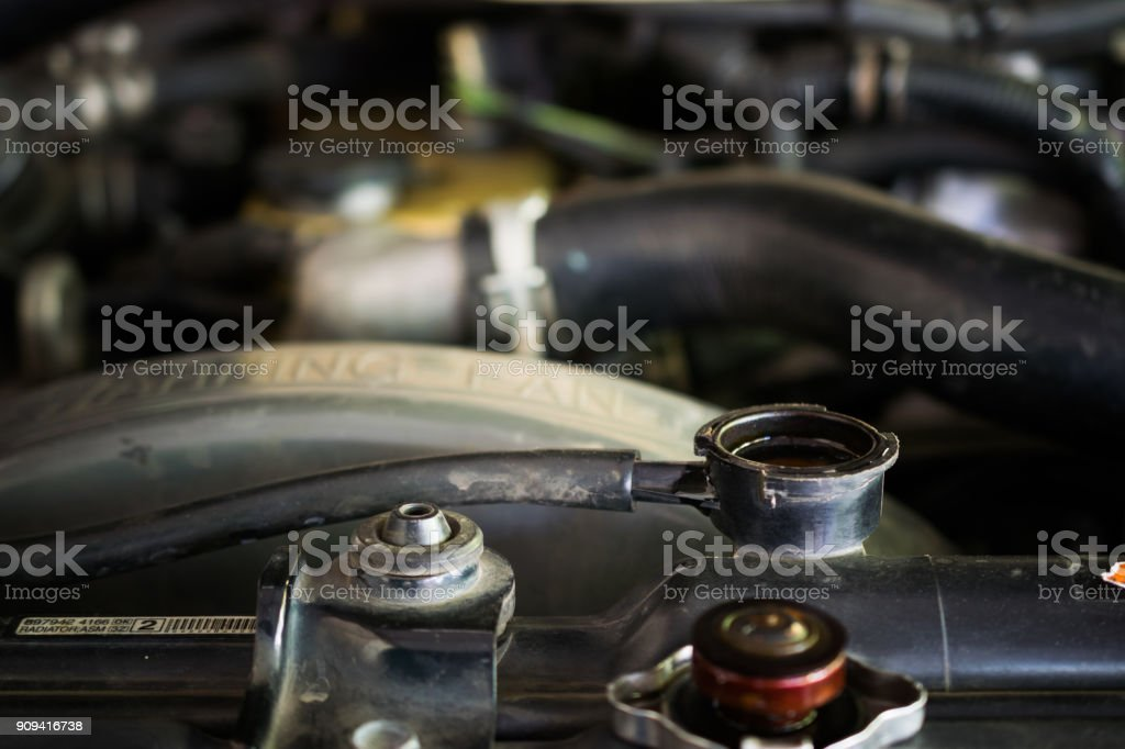 Cerca del radiador del coche - foto de stock