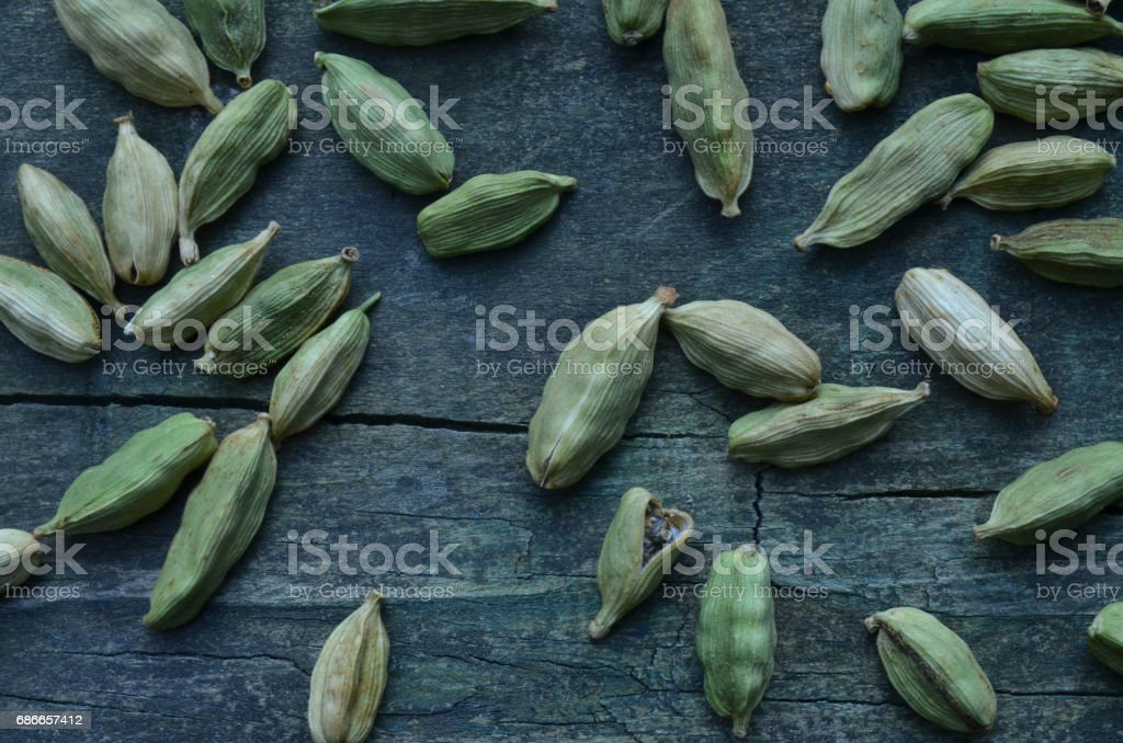 close up of cardamom seed pods spices for cooking royalty-free stock photo