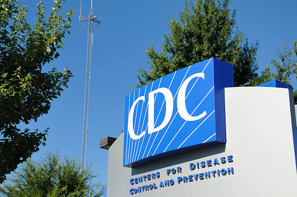Close up of CDC sign stock photo
