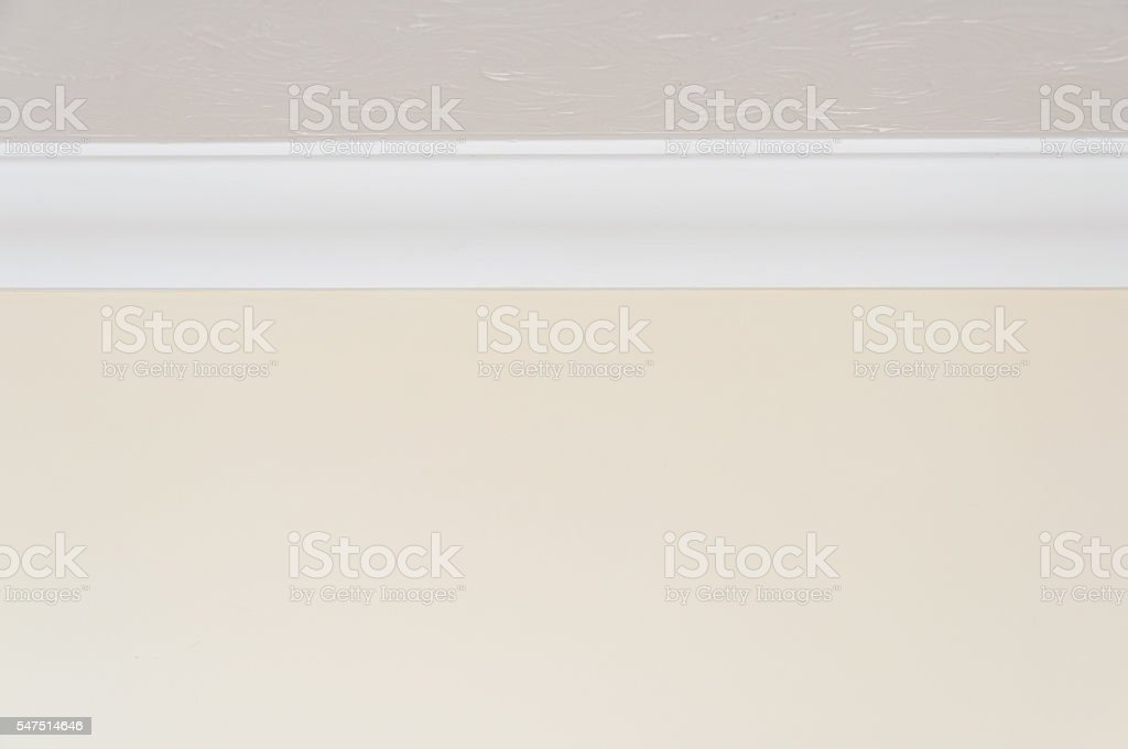 Close up of ceiling moulding stock photo