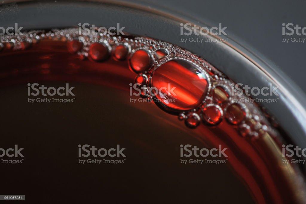 炭火ロースト ダ香港パオ茶のクローズ アップ - ガラスのロイヤリティフリーストックフォト