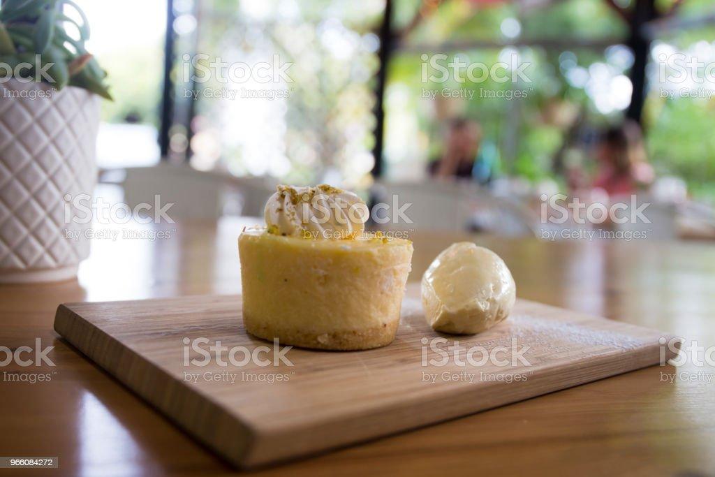 Närbild på cheesecake - Royaltyfri Australien Bildbanksbilder