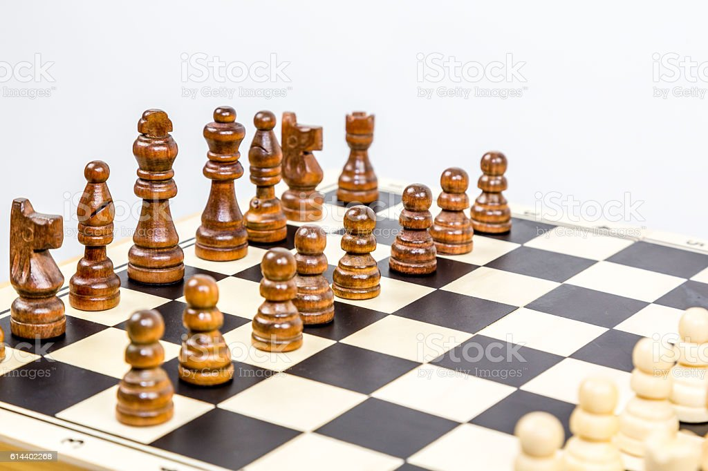Close up of chess game with shallow depth of field. royalty-free stock photo