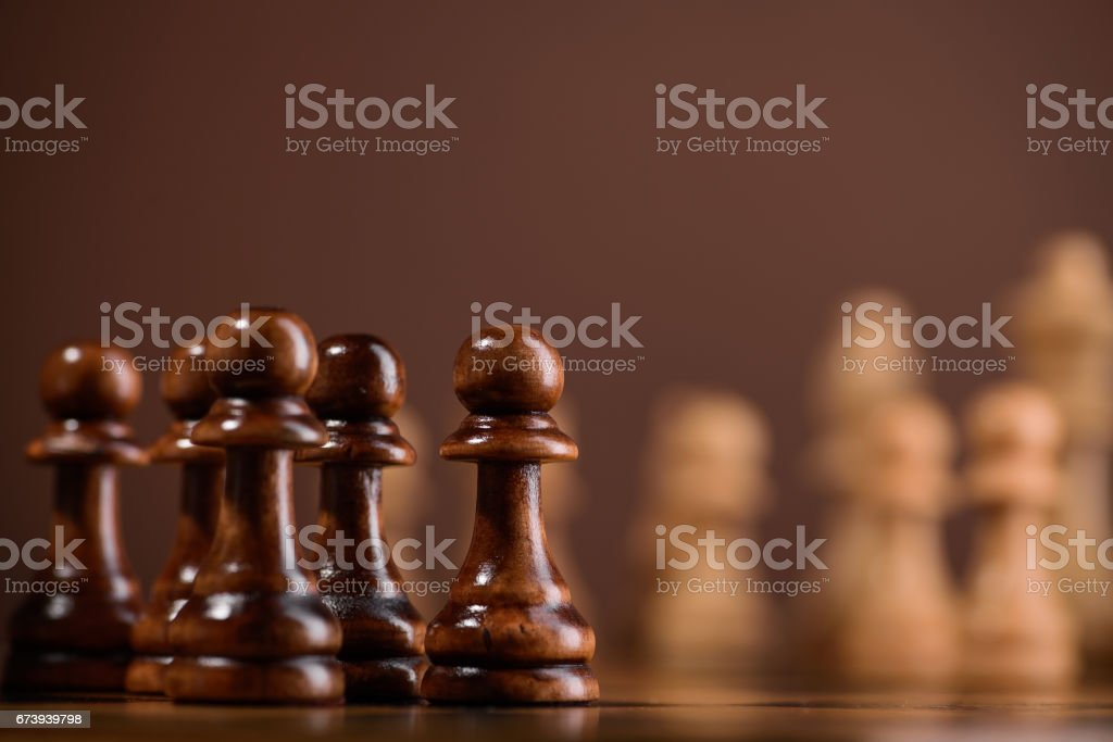 close up of chess piece pawn photo libre de droits