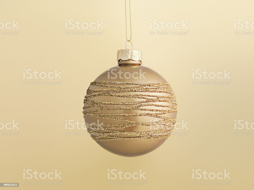 Close up of Christmas ornament hanging on string royalty-free stock photo