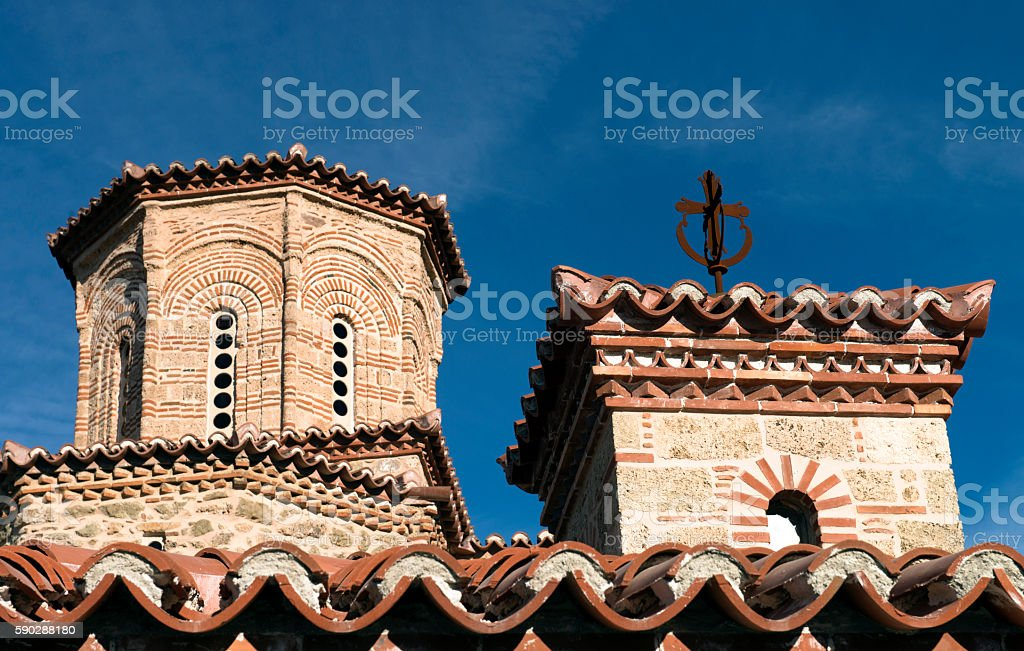 Close up of church roof stock photo