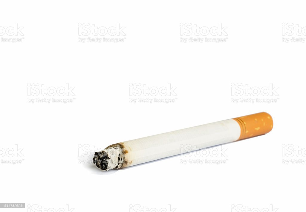 Close up of Cigarette. stock photo