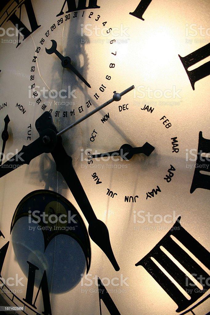 Close up of Clock Face stock photo