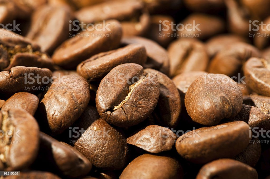 Close up of coffee beans royalty-free stock photo