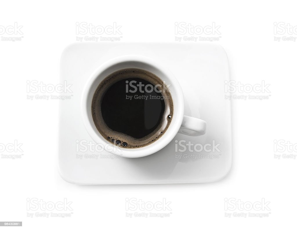close up of coffee cup on white background royalty-free stock photo