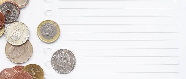 close up of coins – zdjęcie