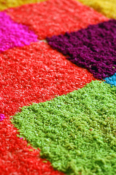 Close Up of Colorful Rice stock photo