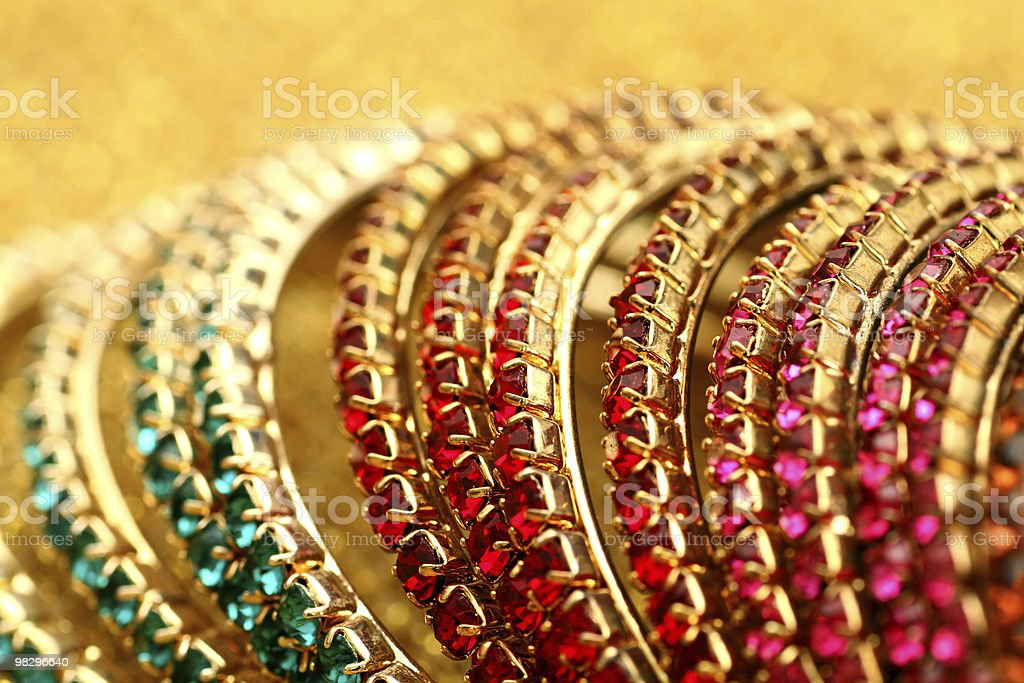 Close up of colourful Indian Bangles. royalty-free stock photo