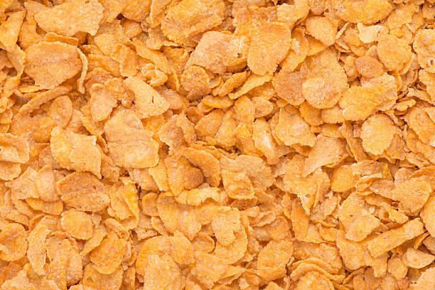 primer plano de cornflakes - corn flakes fotografías e imágenes de stock