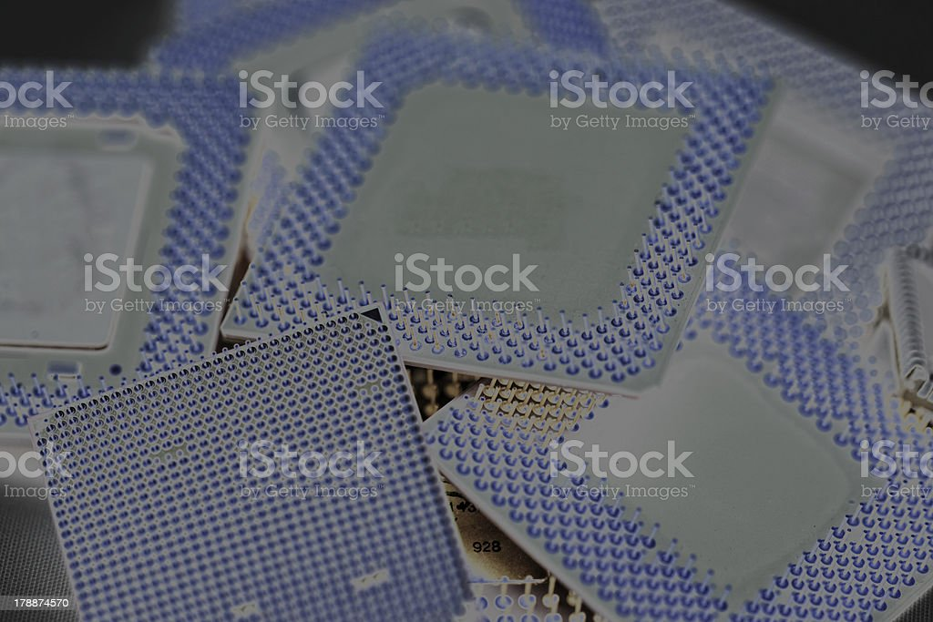 close up of cpu processors royalty-free stock photo