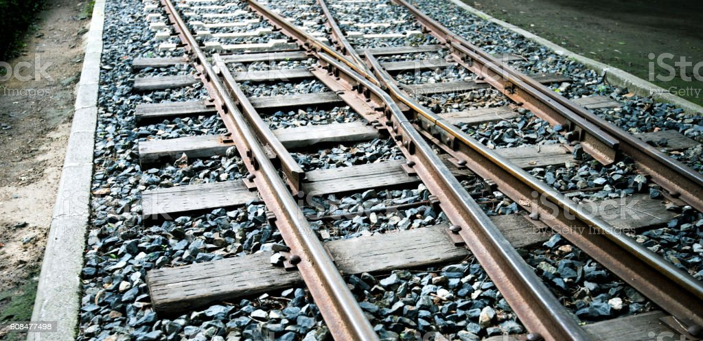 Nahaufnahme der Kreuzung Eisenbahn – Foto
