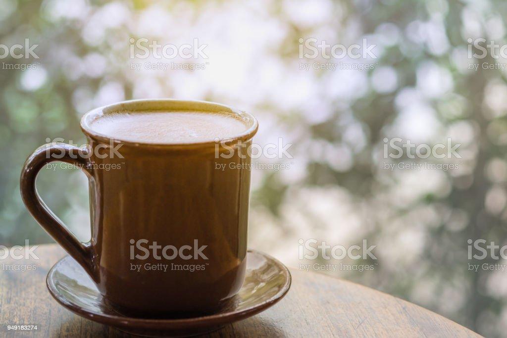 Sur Droit Du Latte Photo Libre Chaud Tasse Plan De Gros Café lFJK1c